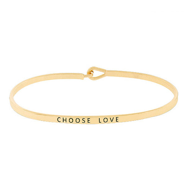 """Choose Love"" Message Bracelet"