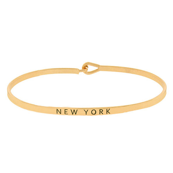 """New York"" Message Bracelet"