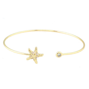 Mini Starfish Open Bangle