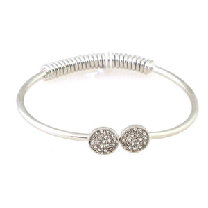 Dual Diamond Coin Bangle