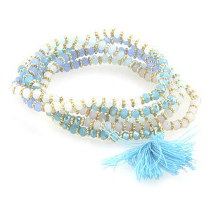 Dual Crystal Wrap Bracelet/Necklace
