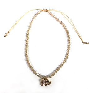 Single Strand Crystal with Elephant BR