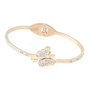 Diamond Butterfly Hinge Bracelet
