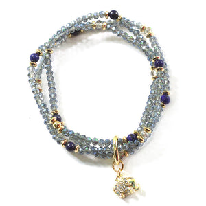Layered Crystal BR with Diamond Elephant