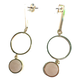 Circles Drop Stmt Earrings