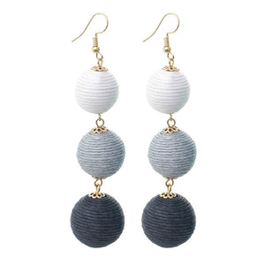 Rafia Party Drop Earrings