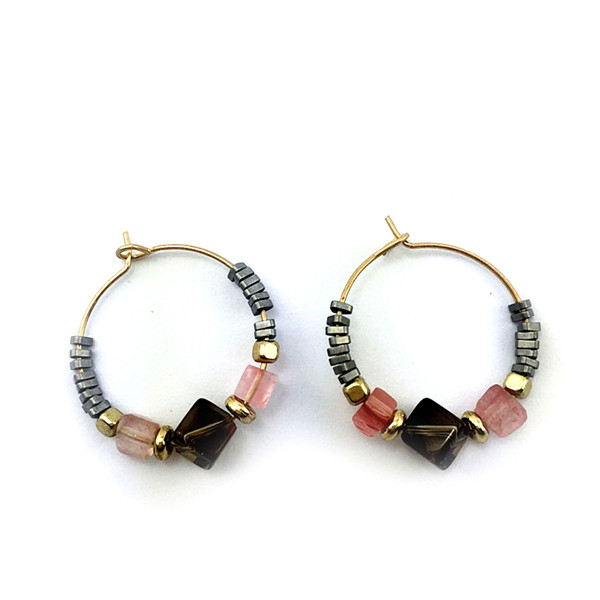 Rock & Bead Hoops