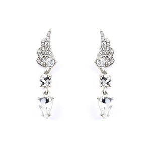 Diamond Wing Drop Earrings
