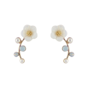 Climbing Flower Earrings