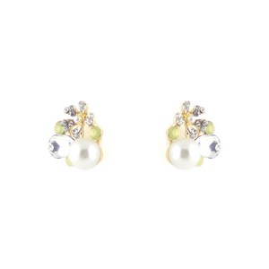 Freeform Flower & Pear Earrings