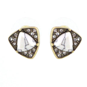 Diamond Encrusted Marble Studs