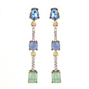Jewel & Diamond Drop Earrings