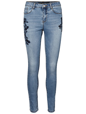 Seven Super Slim Embroidery Jeans