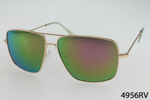 Double Bar Metal Aviator Sunglasses