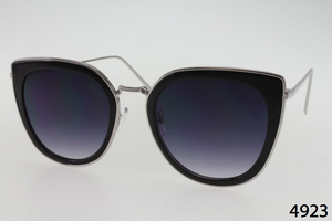 Metal And Plastic Retro Cateye Sunglasses