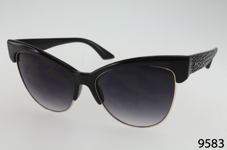 686adf39a Metal And Plastic Winged Cateye Sunglasses - Tias Place