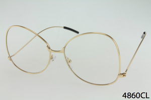 Metal Frame Clear Lens Butterfly Glasses