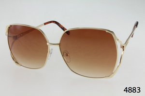 Metal Frame Split Temple Sunglasses