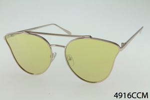 Metal Frame TearDrop Cateye Sunglasses