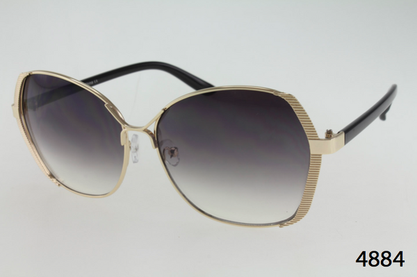 Metal Frame With Ridged Edge Sunglasses