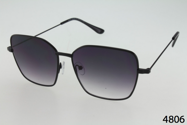 Square Metal Frame Sunglasses