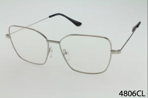 Square Metal Frame Clear Lens Glasses