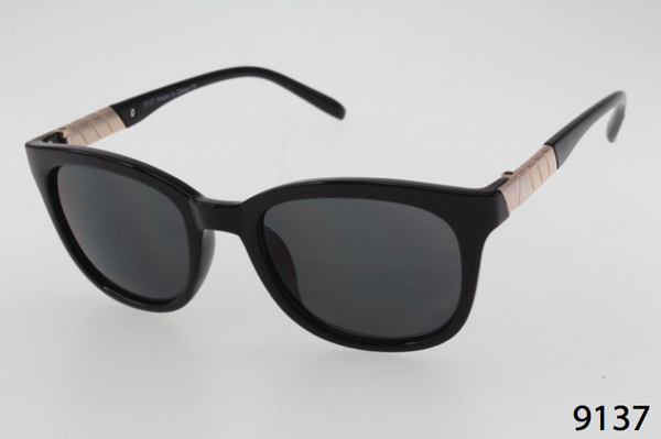 Wayfarer with Gold Wrap Sides Sunglasses