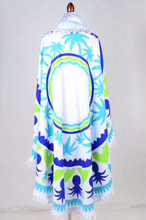 Palm Trees & Pinapples Plush Beach Towel & Wrap