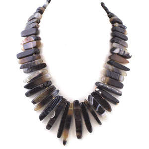 Stone Fingers Statement Necklace