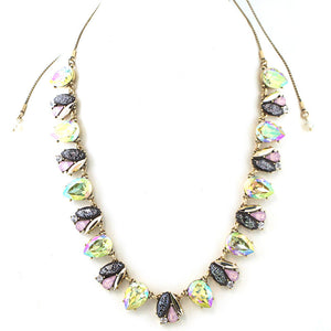 Cluster Diamond Jewel Statement Necklace