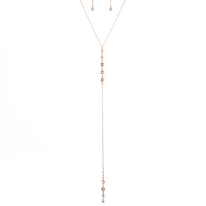 Super Deep Solitaire Drops Necklace