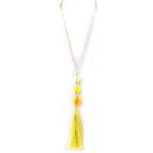 Rafia Party Balls with Fringe Necklace