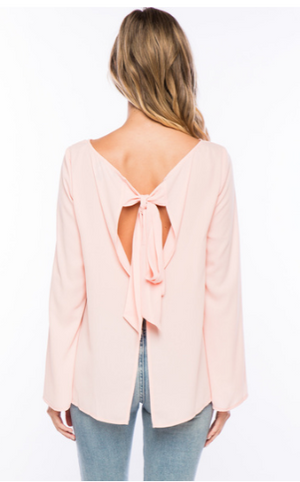 Exaggerated Tie Blouse
