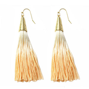 Cone Gradient Fringe Earrings