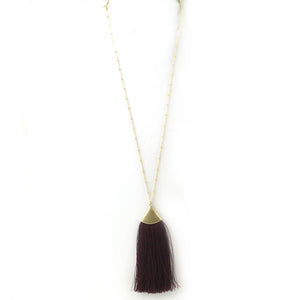 Fan Fringe Pendant Necklace