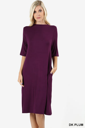 Boatneck Dress with Pockets