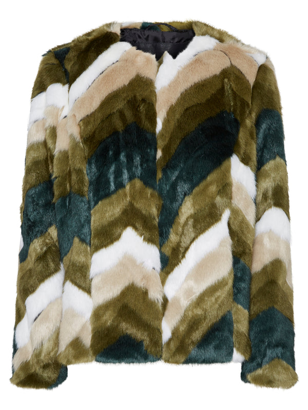 Donata Short Faux Fur Jacket