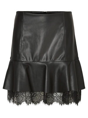 Lucia Butter Faux leather Skirt