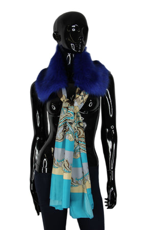 Faux Fur with Silk Scarf