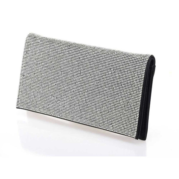 Diamond Wall Flap-over Evening Clutch