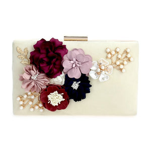 3D Floral Art Evening Bag