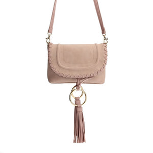 Saddle Stitched Crossbody with Rings