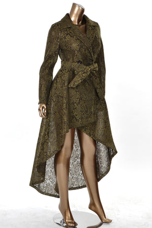 High Low Lace Coat
