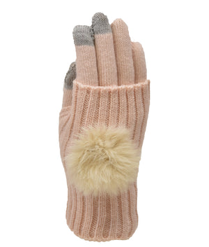 POM POM CONVERTIBLE TEXTING GLOVE