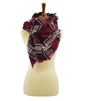 MENSWEAR PLAID BLANKET SCARF