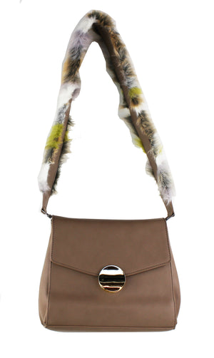 Faux Fur Strap Shoulder Bag