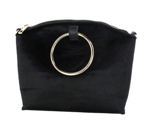 DOUBLE RING CLUTCH WITH CROSSBODY