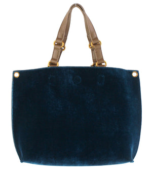 Mini Reversible Velvet Tote