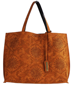 LASER CUT TRIBAL TOTE