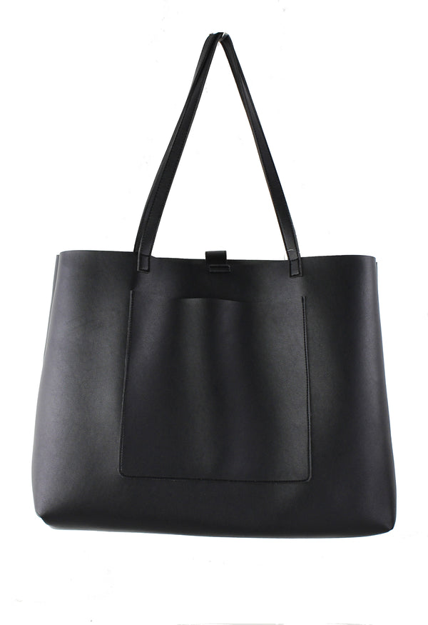 FRONT POCKET SLOUCH STRUCTURE TOTE